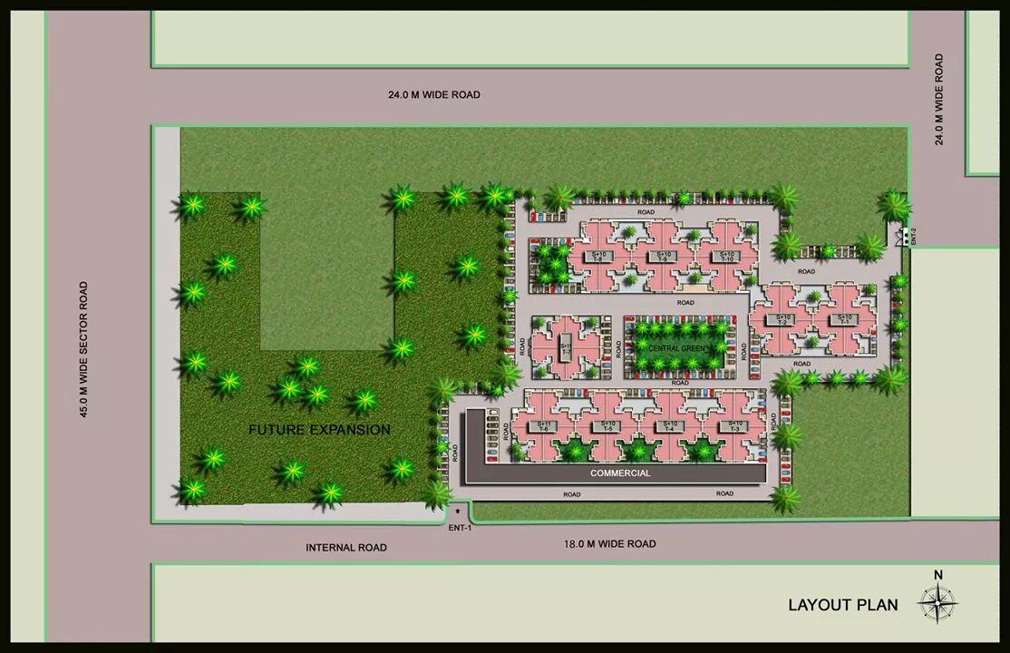 site plan of auric homes faridabad