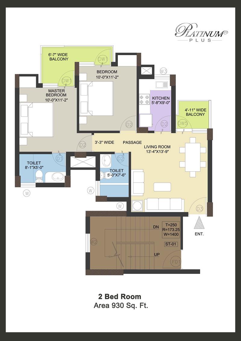 Floor plan of klj platinum plus faridabad
