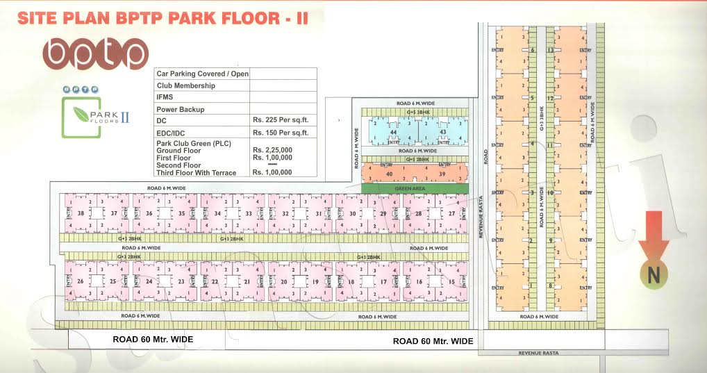 Site Map of Bptp Park Floors 2 Sector 76 Faridabad