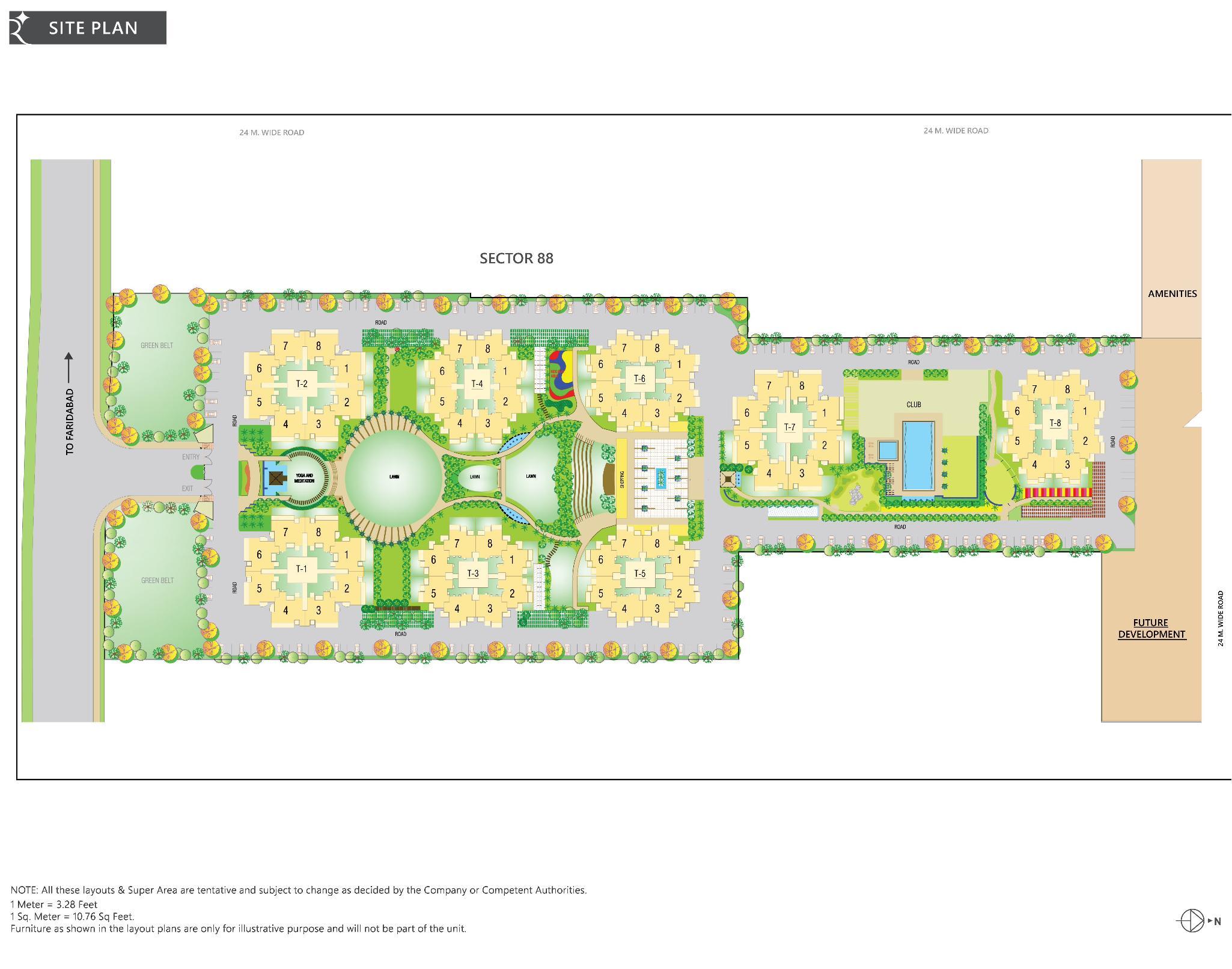 Layout Plan OF rps auria faridabad