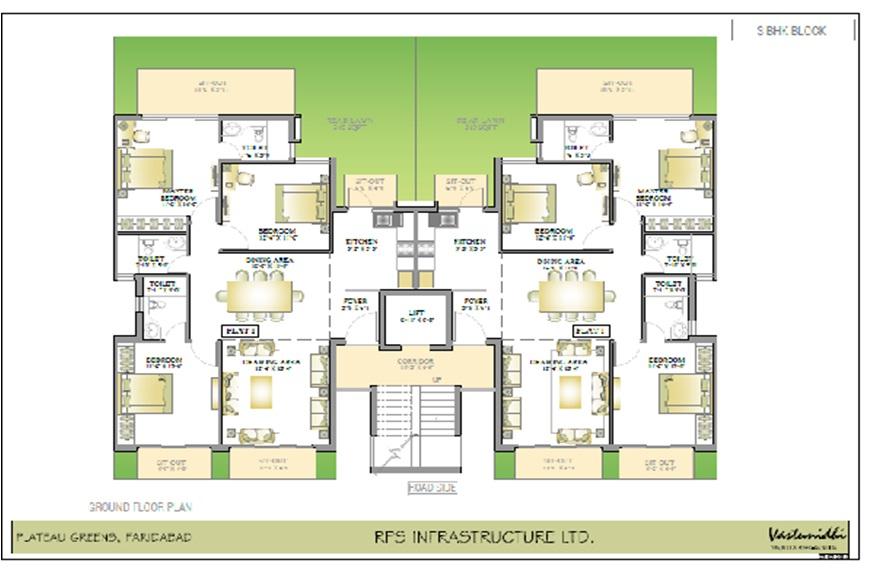 Floor Plan of RPS Plateau Faridabad