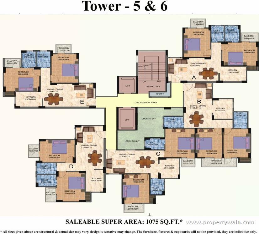 Floor plan of sai vatika apartments sec 63 faridabad