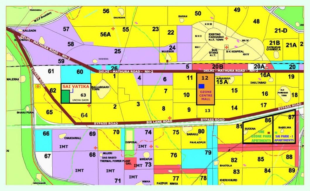 location map of shiv sai apartments sec 63 faridabad