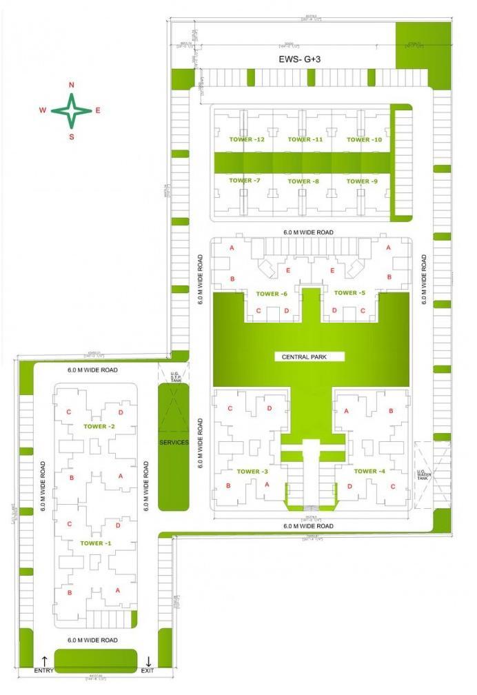 site plan of shiv sai apartments sec 63 faridabad